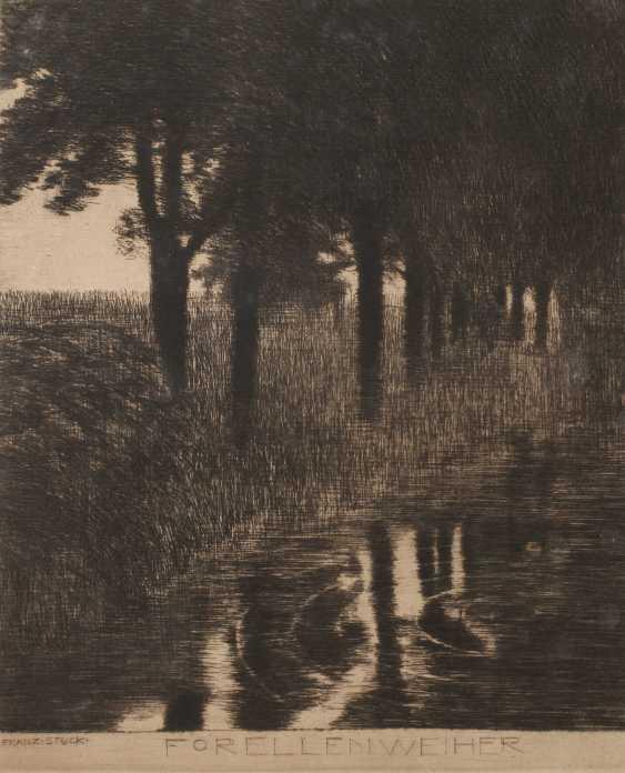 """Prof. Franz von Stuck, """"trout pond"""" - photo 1"""