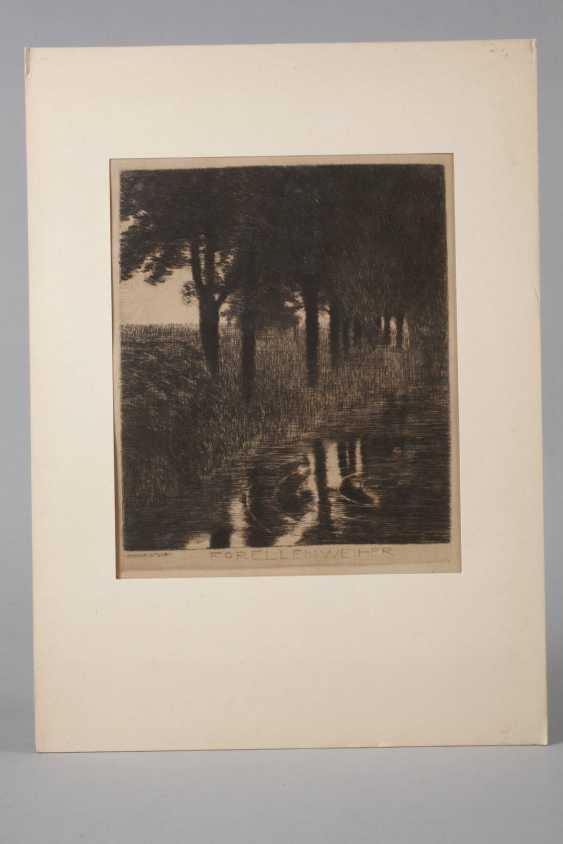 """Prof. Franz von Stuck, """"trout pond"""" - photo 2"""
