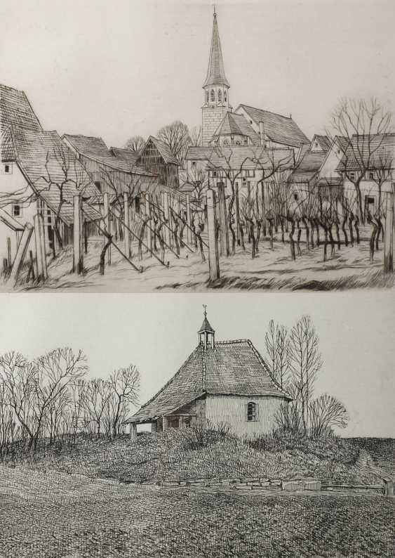 Werner Brand, Zwei Motive aus Herxheim - Foto 1