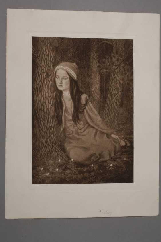 "Fidus, ""daughter of the artist"" - photo 2"
