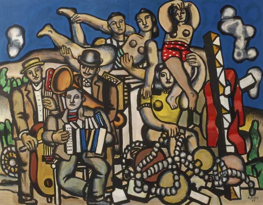 "Fernand Leger, ""Musicians and acrobats"" - photo 1"