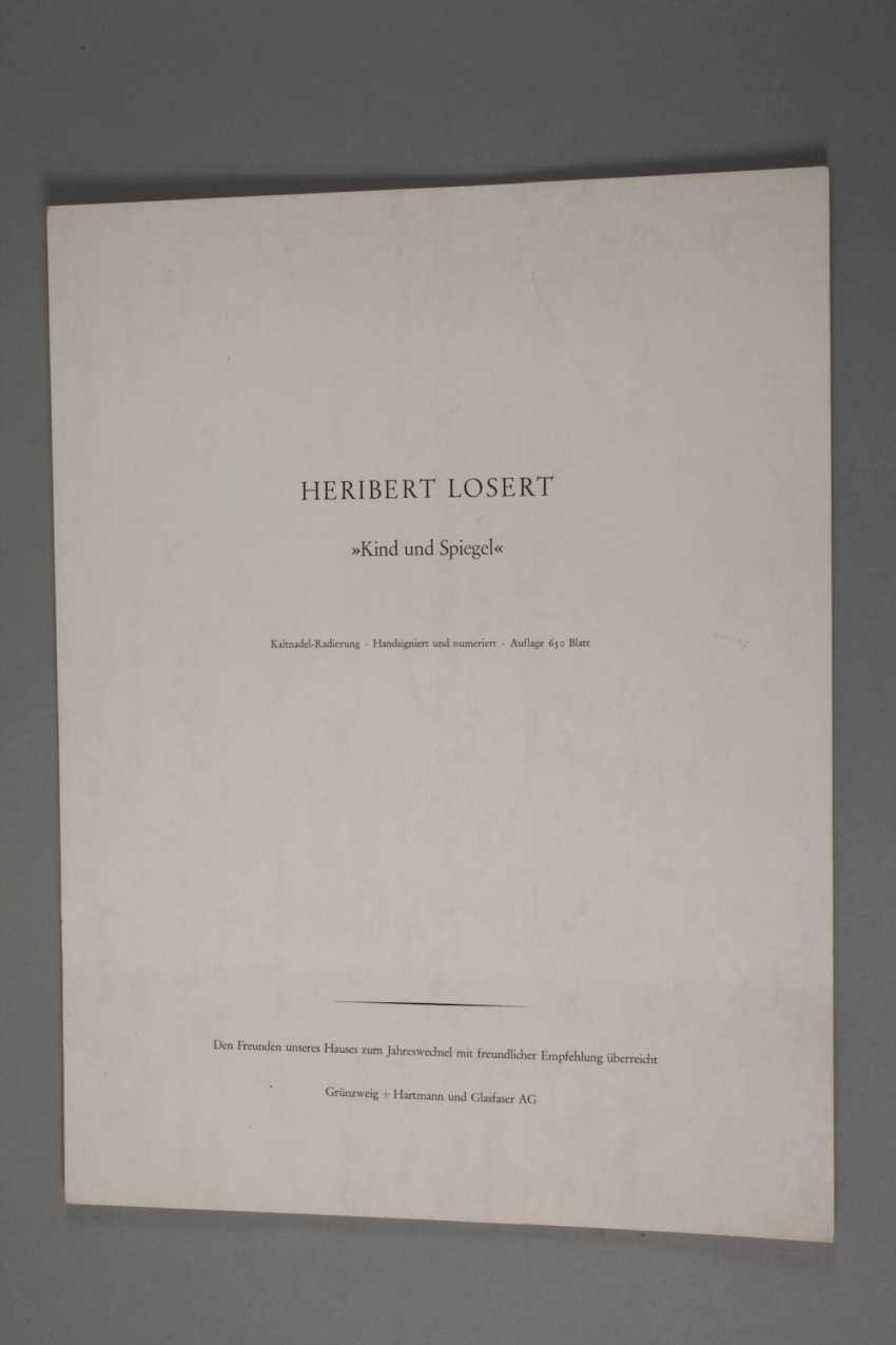 """Heribert Losert, """"the child and the mirror"""" - photo 2"""