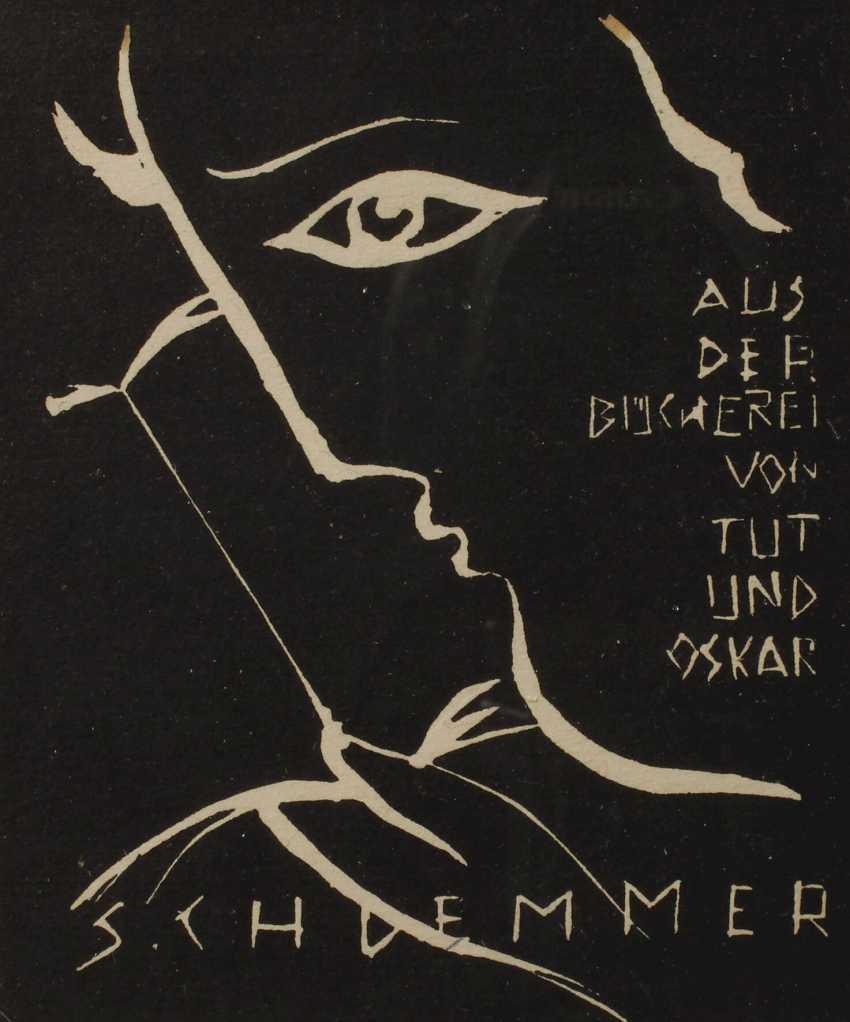 Prof. Oskar Schlemmer, Ex-Libris - photo 1