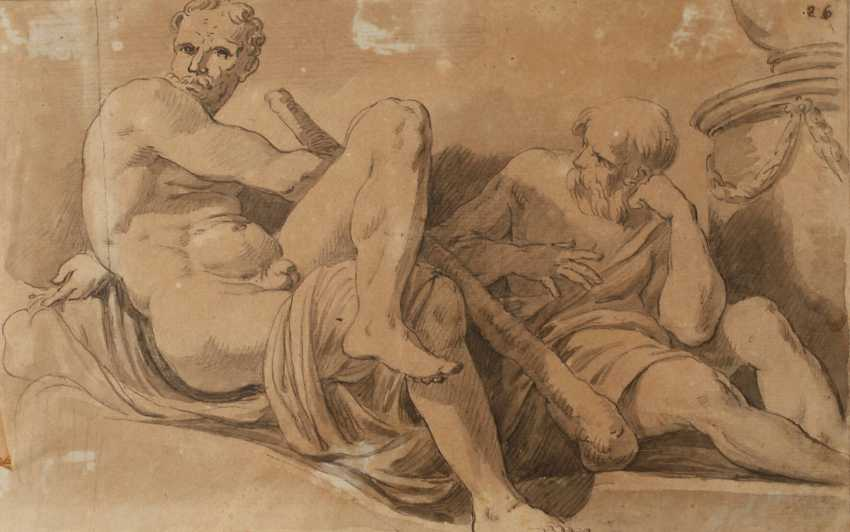 Charles André van Loo, attributed to Dormant men - photo 1