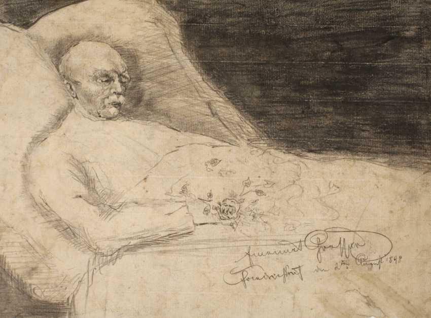 Emanuel Large, Bismarck on his death bed - photo 1