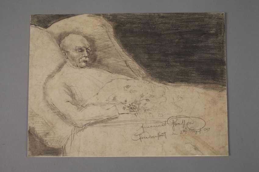 Emanuel Large, Bismarck on his death bed - photo 2