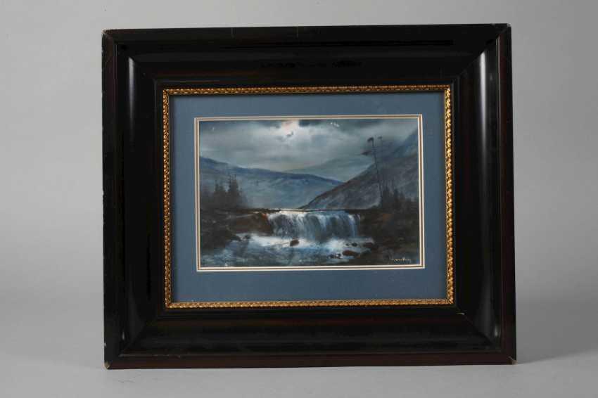 Hjalmar Lundberg, Moonlit Waterfall - photo 2