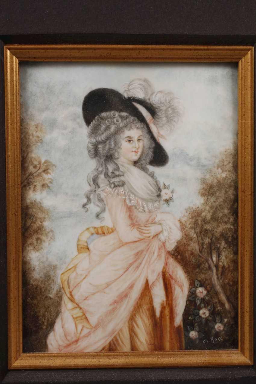 Ch. Roze, Rokoko-Damenportrait - photo 2