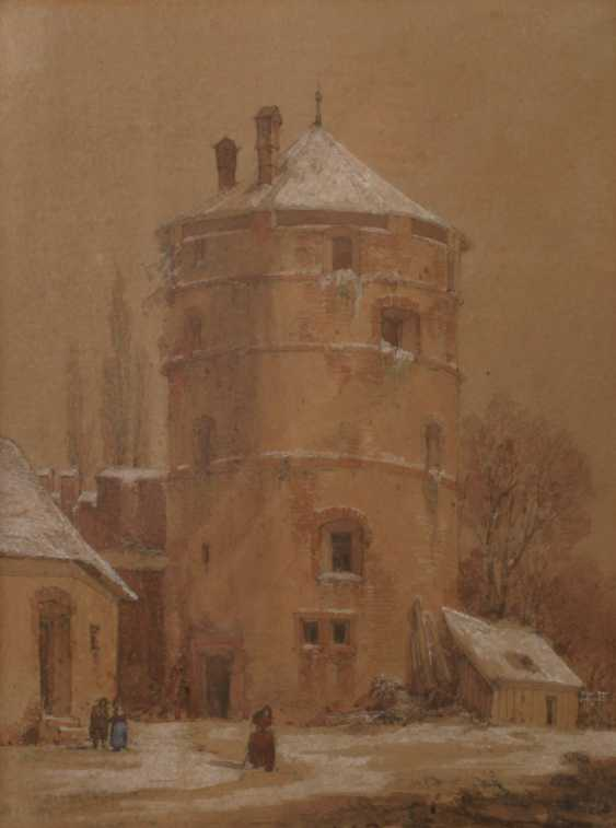 Theodor Verhas, attributed to a medieval tower - photo 1