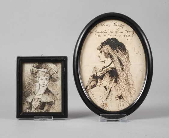 Pair Of Ladies ' Portraits - photo 1
