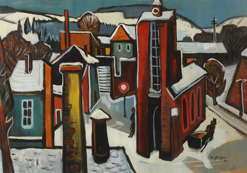 Heinz Fülfe, the city in the Winter - photo 1