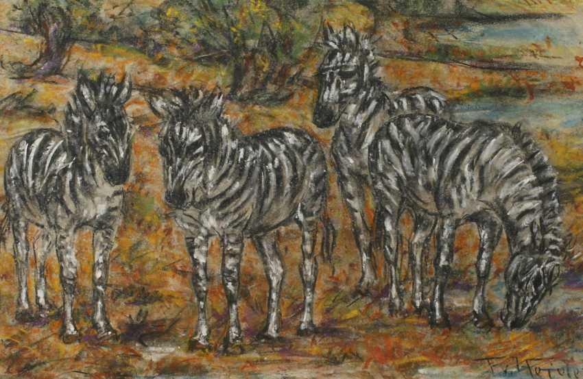 Fritz von Heider, Zebras - photo 1
