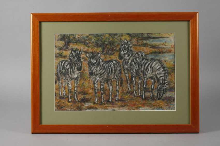 Fritz von Heider, Zebras - photo 2