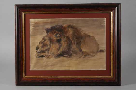 Fritz von Heider, attributed to the Dormant lion - photo 2