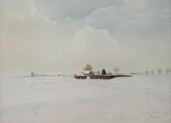 """Профессор Вильгельм Herb дерева, """"зима в нижнем Рейне"""" - фото 1"""