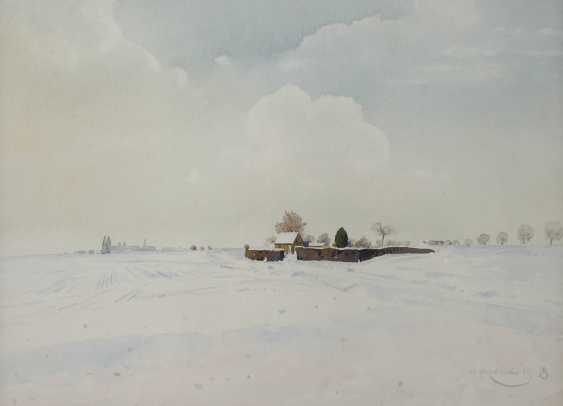 "Prof. Wilhelm Herberholz, ""Winter on the lower Rhine"" - photo 1"