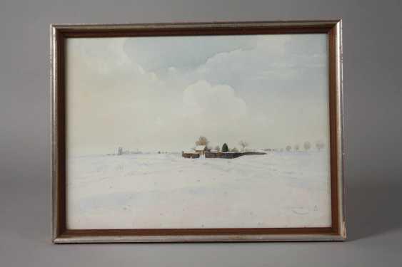 """Профессор Вильгельм Herb дерева, """"зима в нижнем Рейне"""" - фото 2"""