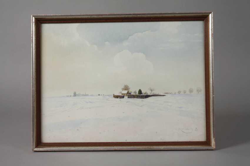 "Prof. Wilhelm Herberholz, ""Winter on the lower Rhine"" - photo 2"