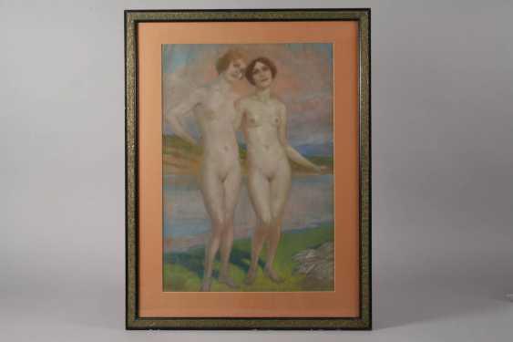 Richard Langner, girls Nudes at the lake - photo 2