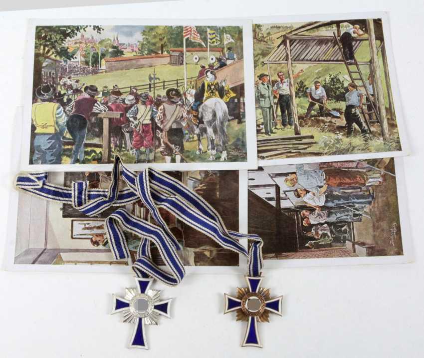 2 Mutterkreuze u. 4 Karten - photo 1