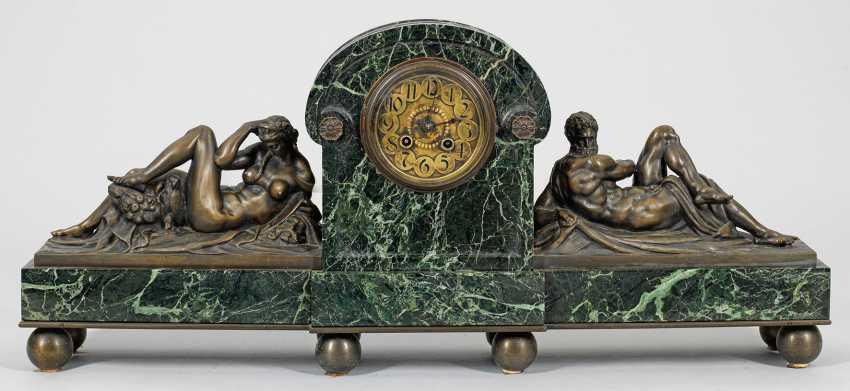 """Large Art Deco mantel clock """"Il Giorno et la Notte"""" - photo 1"""
