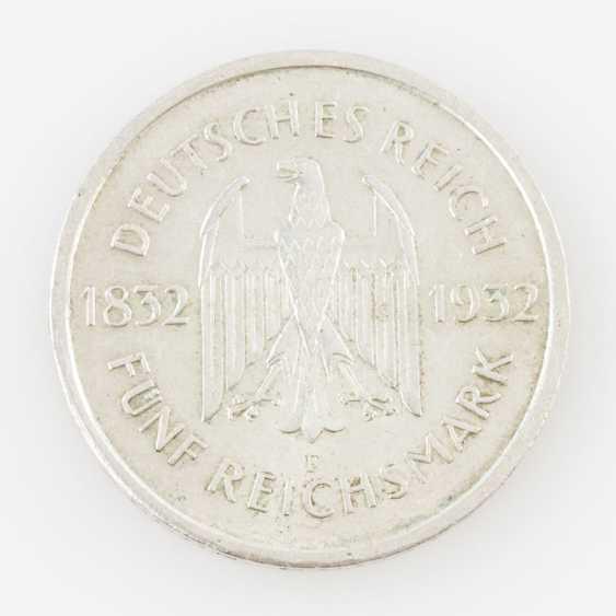 Weimar Republic - 5 Reichsmark, Goethe, - photo 2