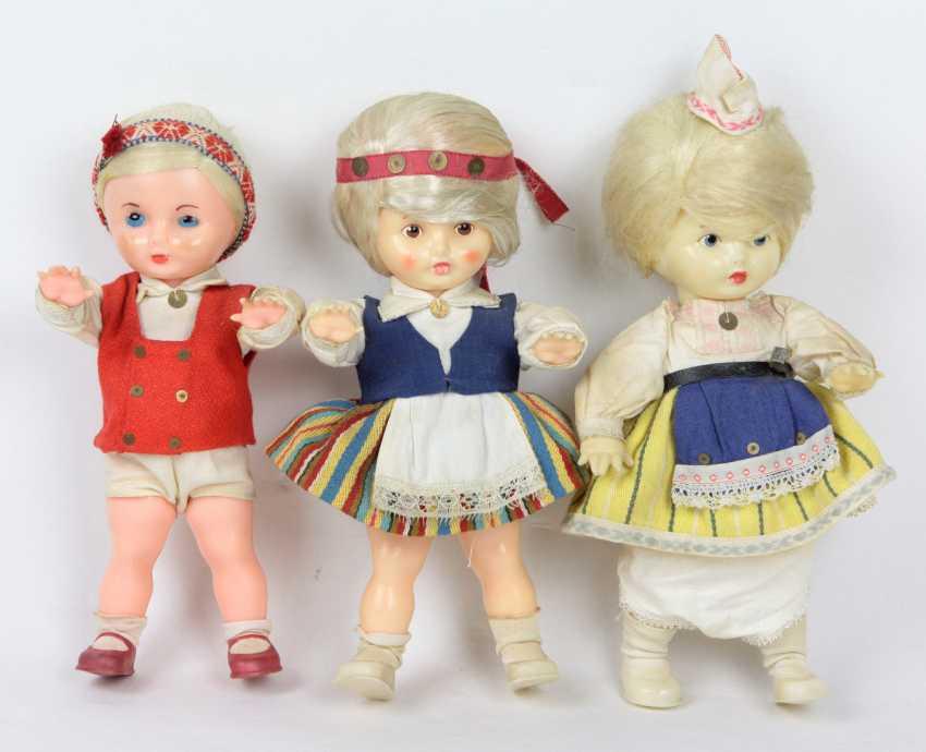 3 Cellulid Puppen - photo 1