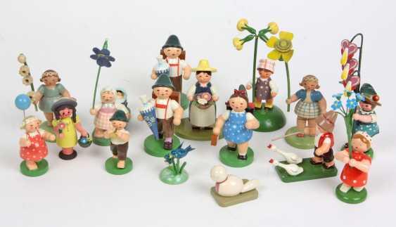 Posten Blumen- u. Schulkinder u.a. - photo 1