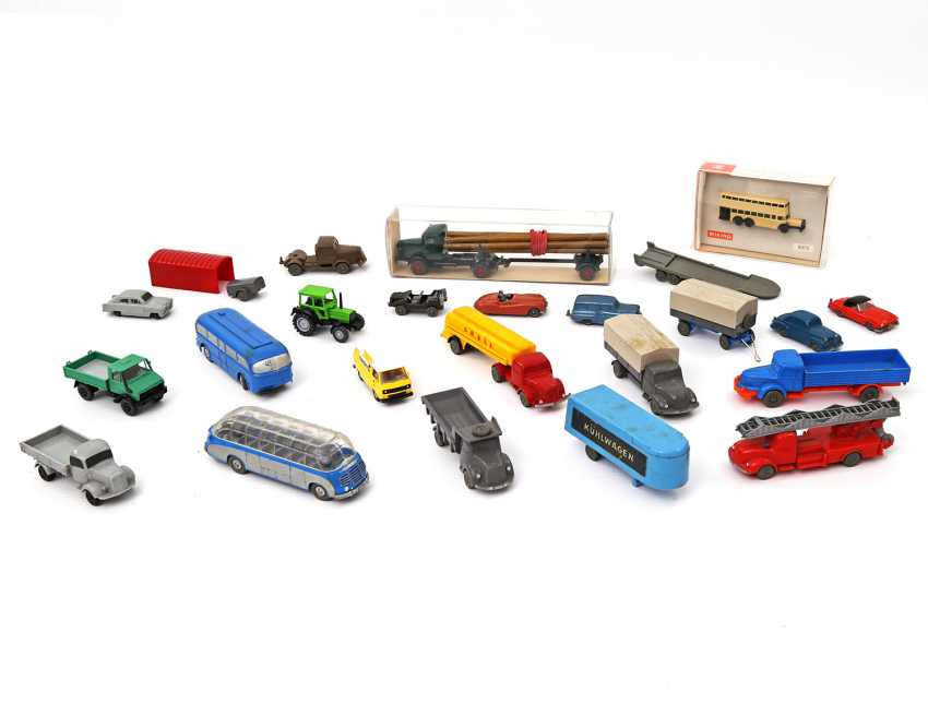 WIKING/MARKLIN mixed lot of model vehicles, - photo 1
