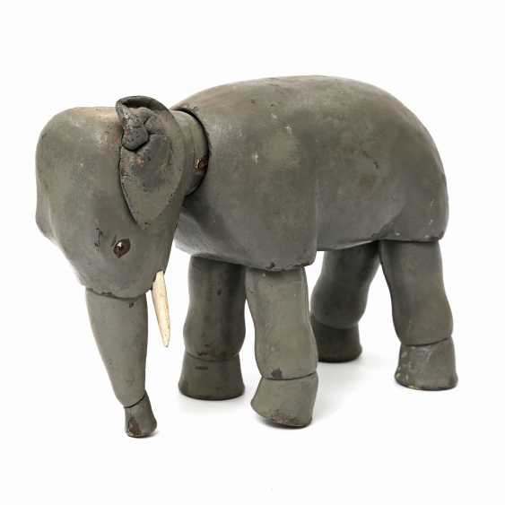 Probably the elephant SCHOENHUT from the Humpty Dumpty circus, in the beginning of 20. Century, - photo 1