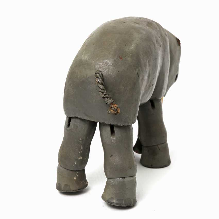 Probably the elephant SCHOENHUT from the Humpty Dumpty circus, in the beginning of 20. Century, - photo 2