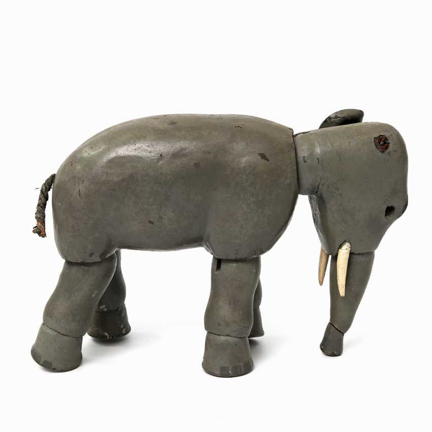 Probably the elephant SCHOENHUT from the Humpty Dumpty circus, in the beginning of 20. Century, - photo 3