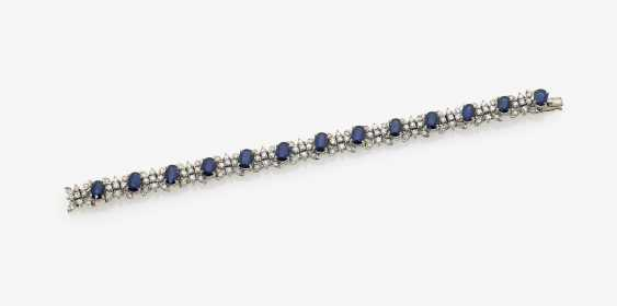Bracelet with sapphires and diamonds - photo 1