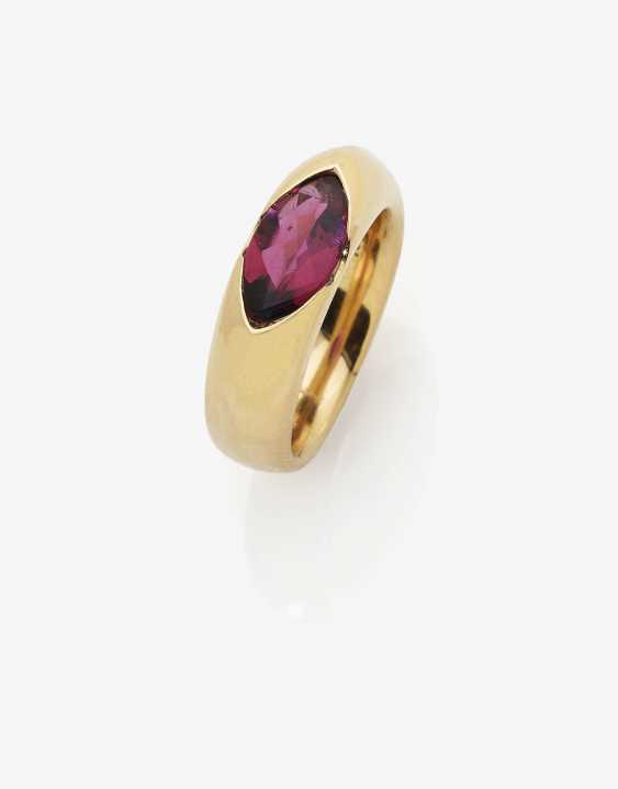 Ring with rubellite - photo 1