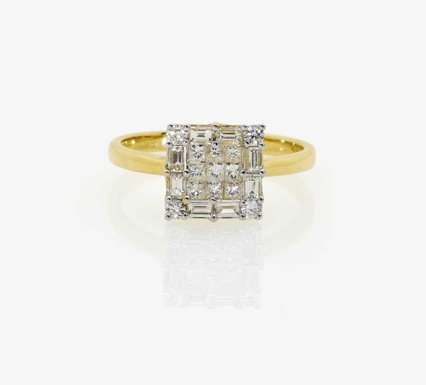 Cocktail ring with diamonds and brilliant-cut diamonds - photo 1