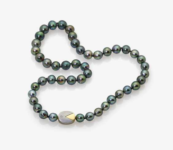 Tahitian cultured castle pearl necklace with Brilliant - photo 1