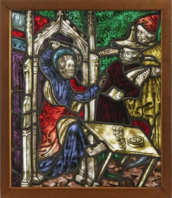 """Glass window """"Christ and the money changers"""" - photo 1"""