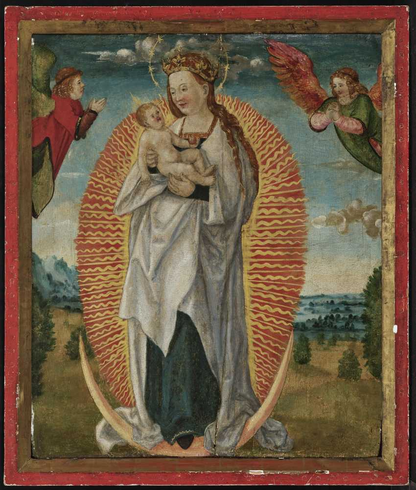 Madonna with child in glory - photo 2