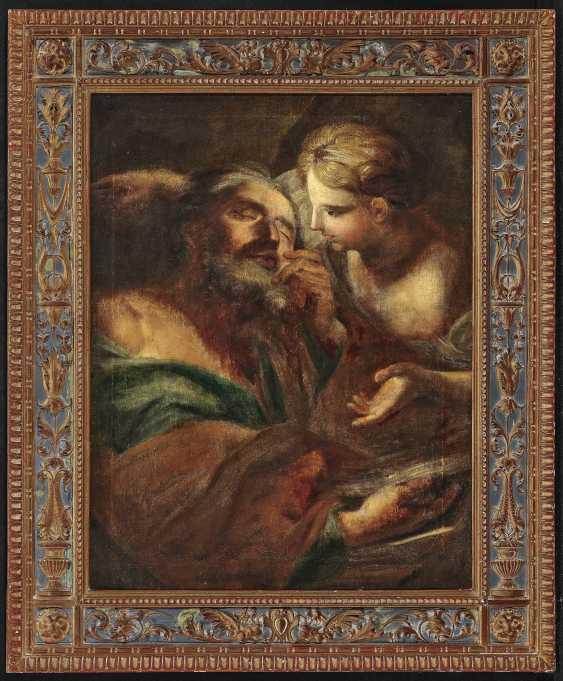 Holy angel (Evangelist Matthew?) - photo 2