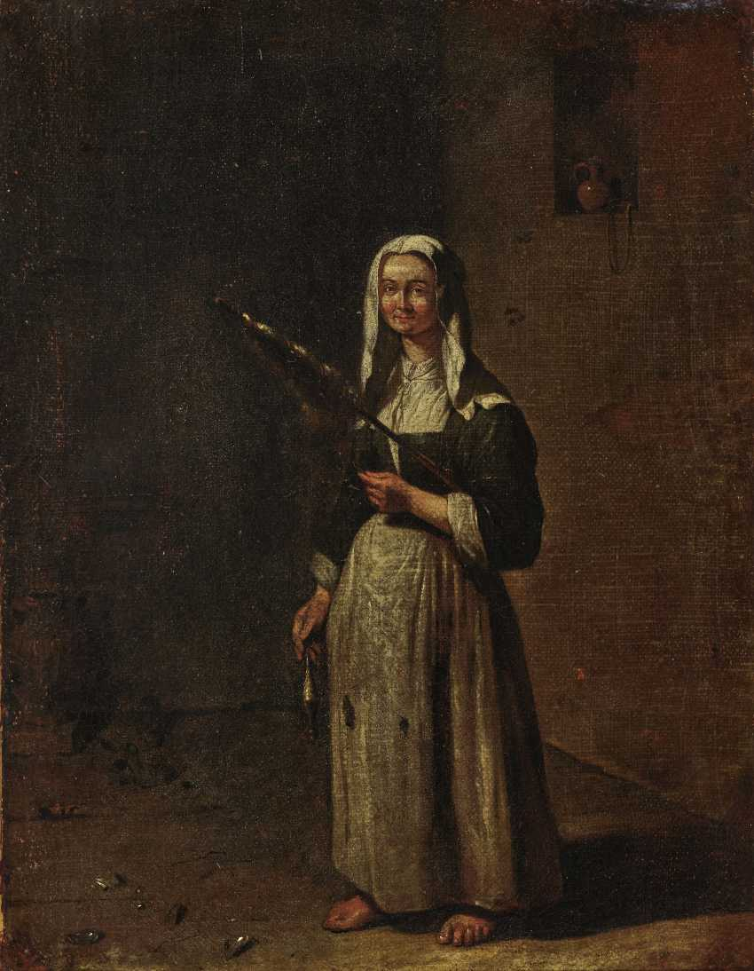 Woman with spindle - photo 1