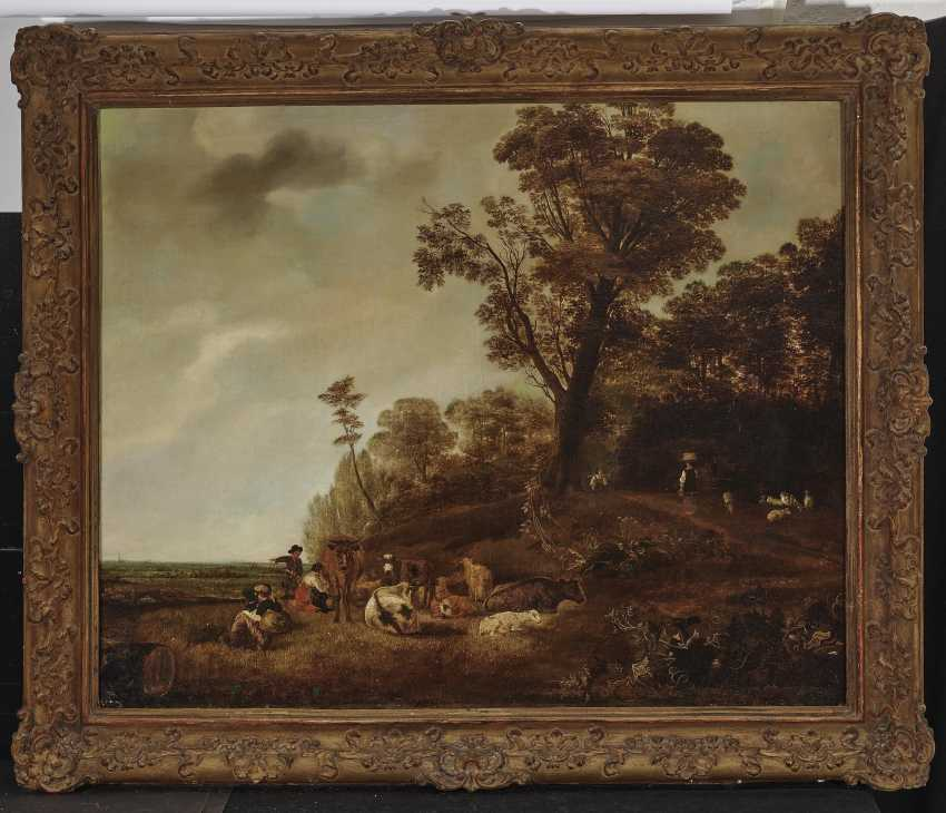 Landscape with figures and animal decoration - photo 2