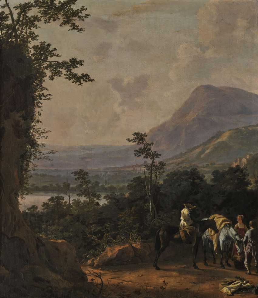 Southern landscape with figure staffage - photo 1