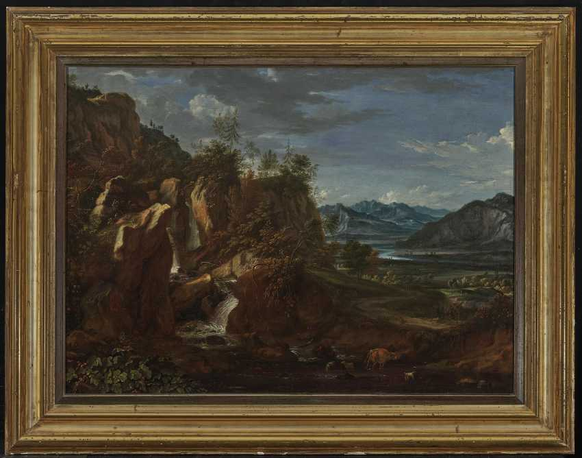 River landscape with a waterfall - photo 2