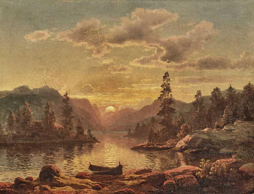 A coastal landscape in evening light - photo 1