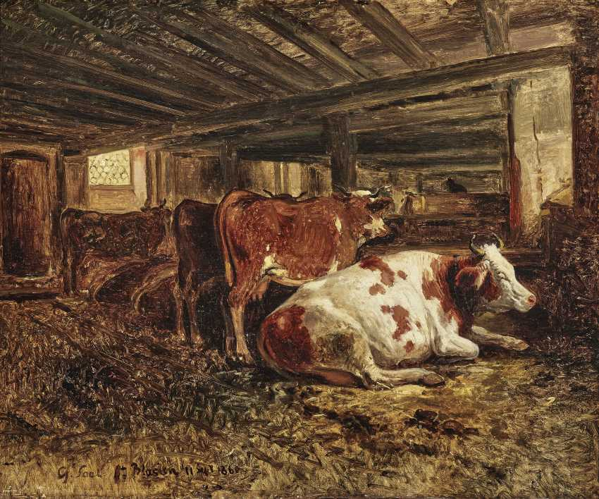 Cows in the barn - photo 1