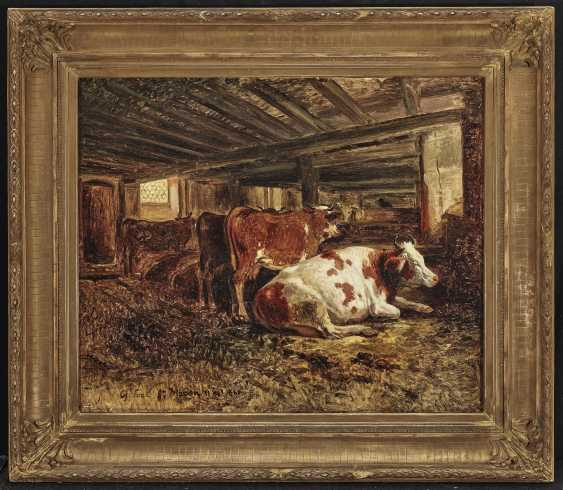 Cows in the barn - photo 2