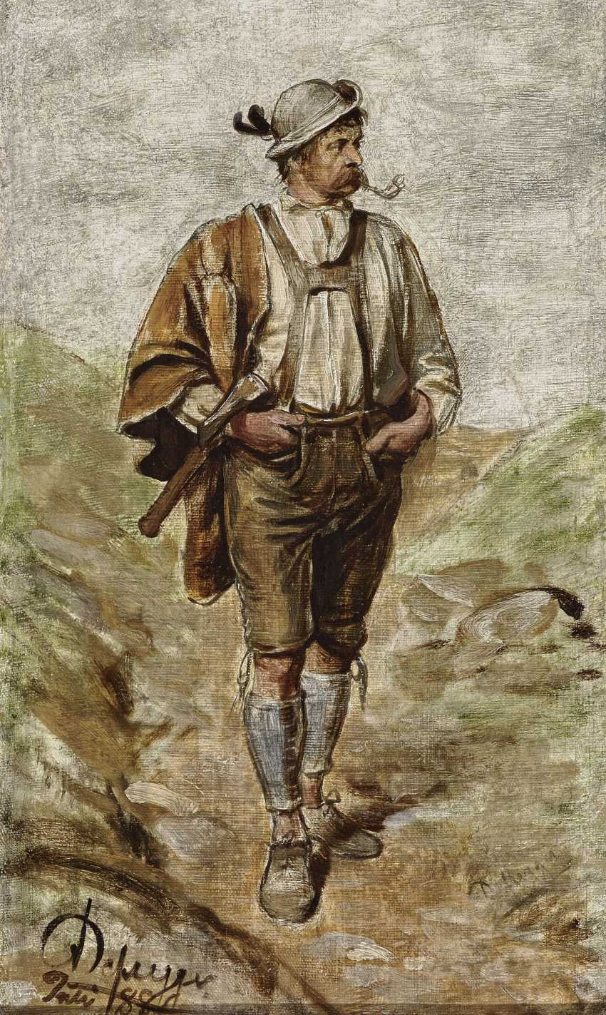 Tyrolean peasant, Smoking a pipe - photo 1