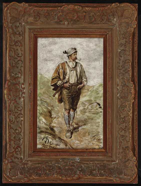 Tyrolean peasant, Smoking a pipe - photo 2