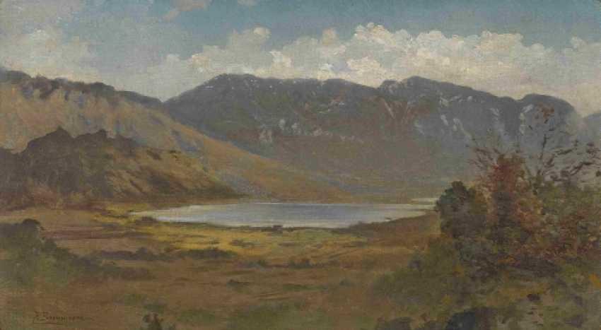 Lake in mountain landscape - photo 1