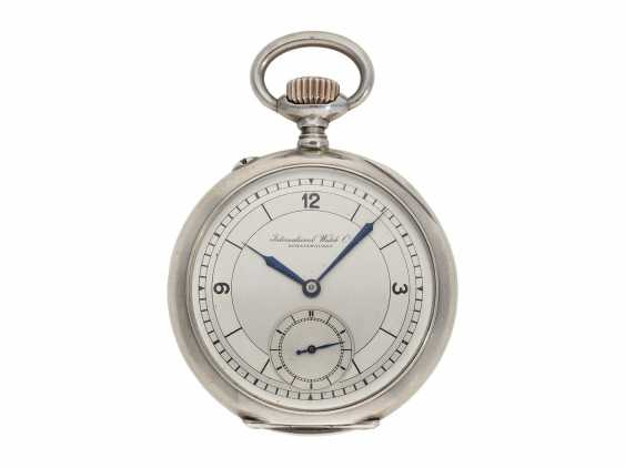 Pocket watch: IWC man's pocket watch with very rare 2-coloured dial, No. 309843, Schaffhausen CA. 1906 - photo 1